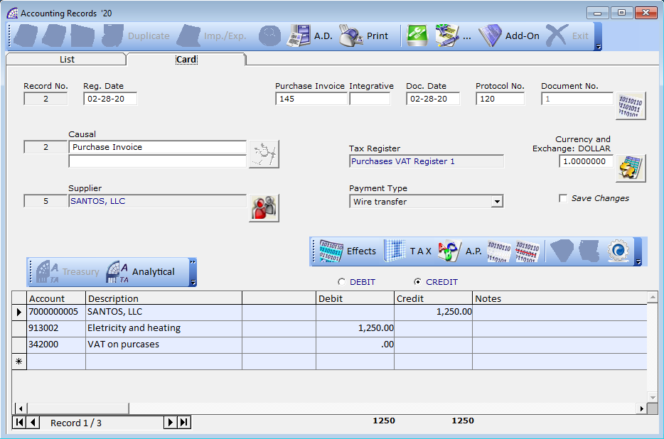 Arpro accounting software