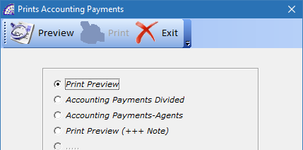 Prints Accounting Payments